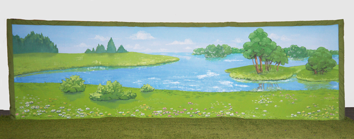 Kids party Scenery&Theming/party-venue-decoration/crystal-lake-scenery